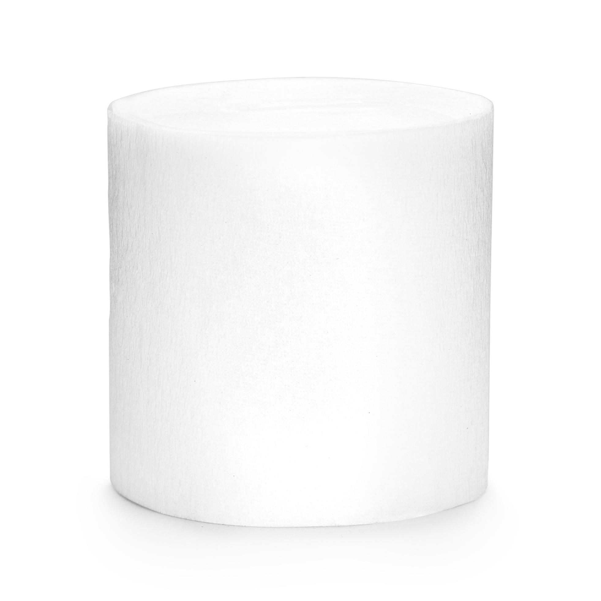 Krepáková stuha na dekoraci bílá 5 cm, návin 10 m, 4 ks