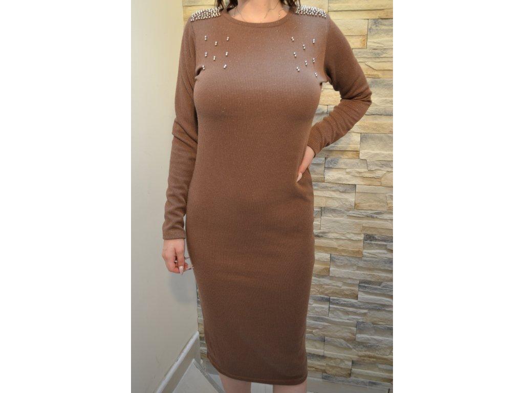 Dámské šaty TATU 1142 / hnědé