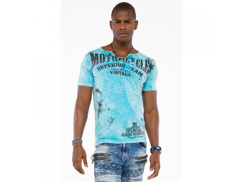 Pánské tričko CIPO & BAXX CT 504 Blue