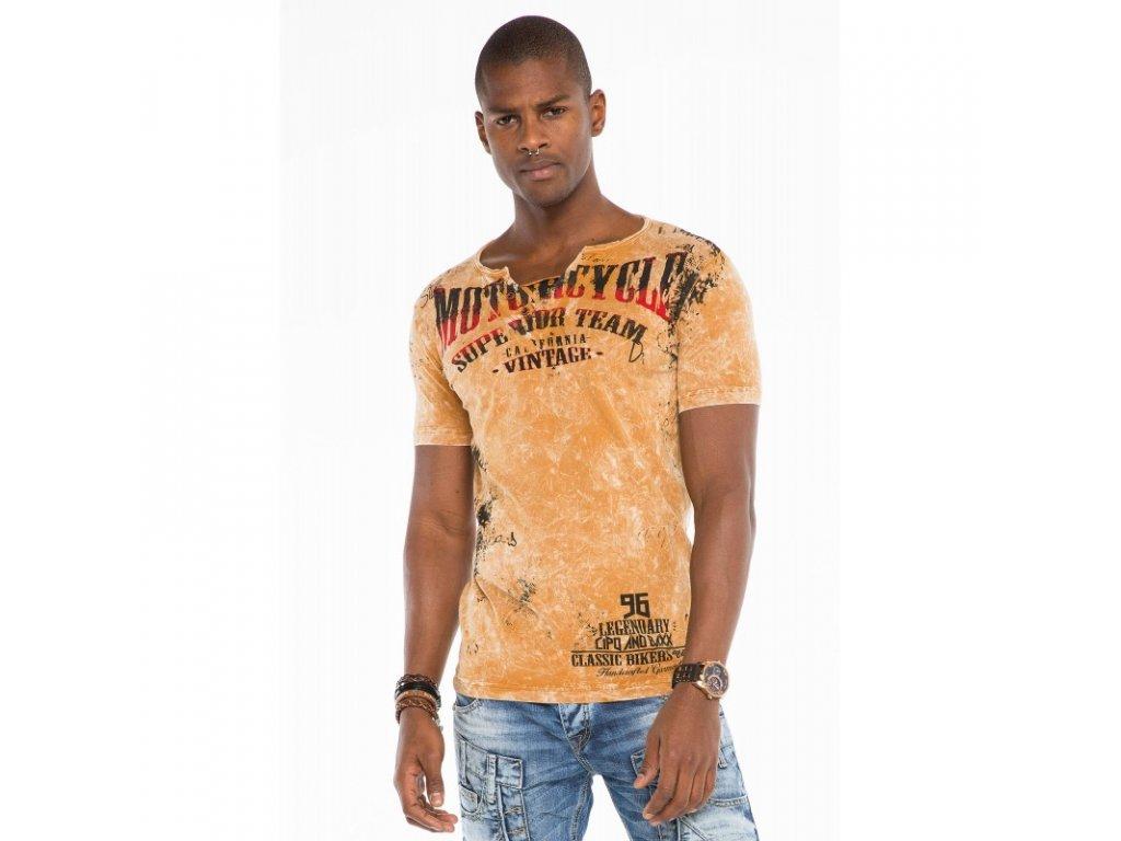 Pánské tričko CIPO & BAXX CT 504 Mustard