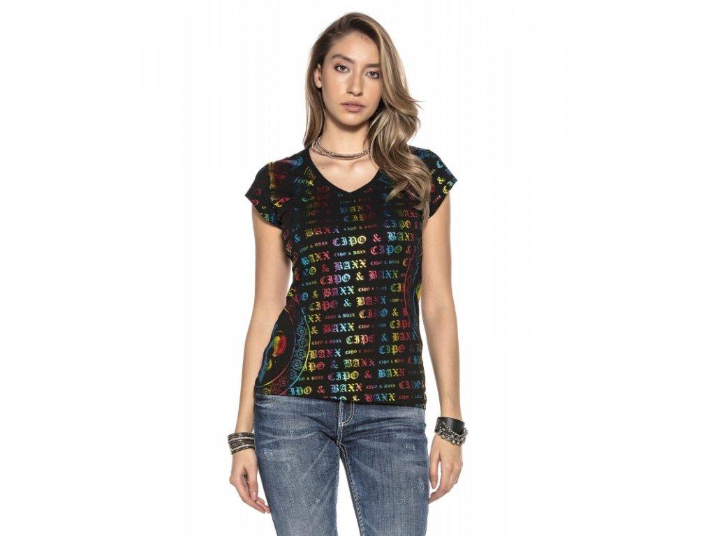 Dámské tričko CIPO & BAXX WT 285 Black