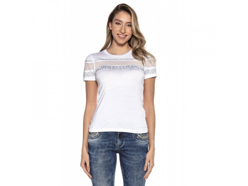 Dámské tričko CIPO & BAXX WT 262 White