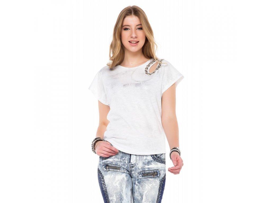 Dámské tričko CIPO & BAXX WT 242 White