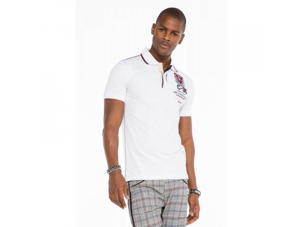 Pánské polo tričko CIPO & BAXX CT 475 White