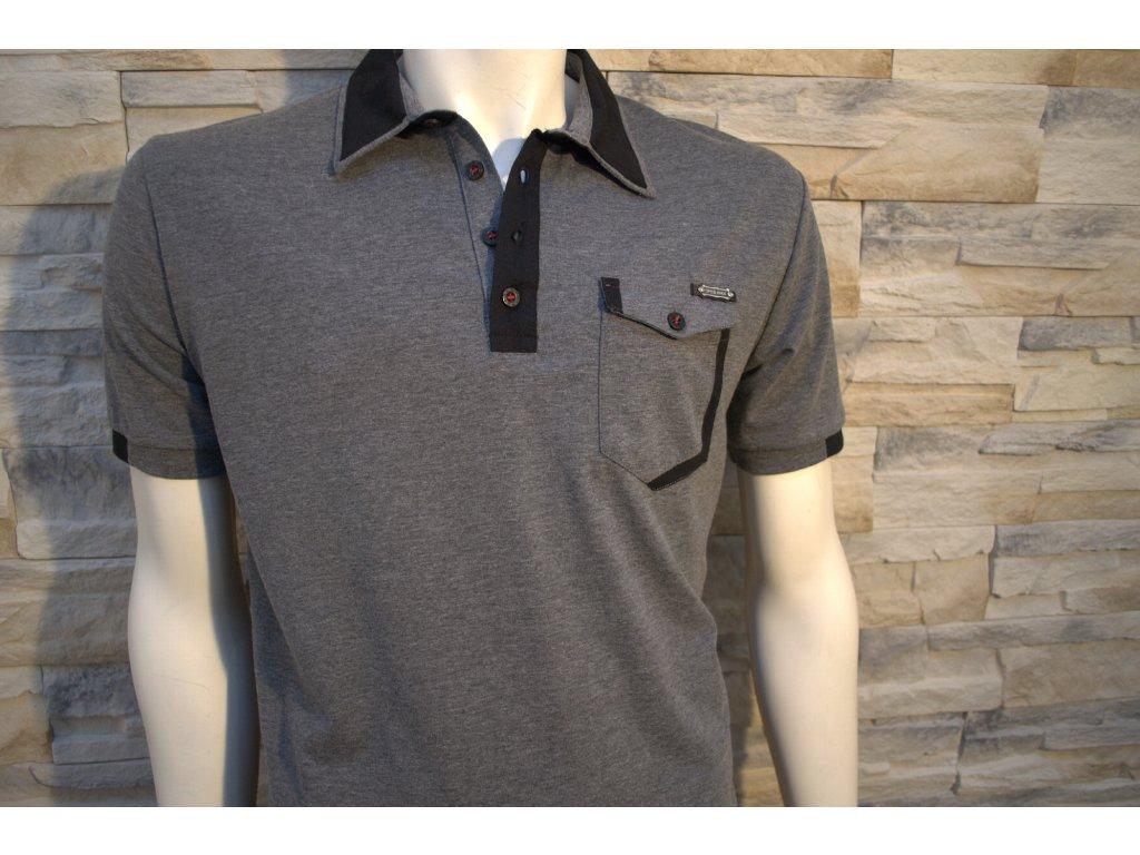 Pánské polo tričko CIPO & BAXX CT 329 Grey