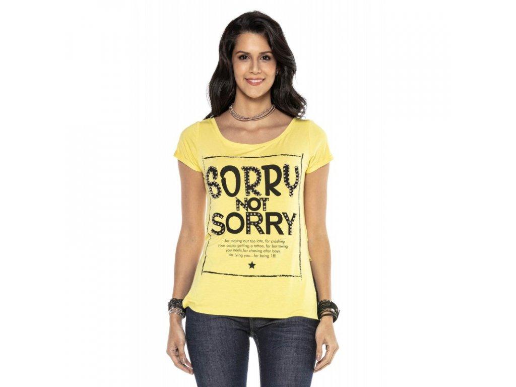 Dámské tričko CIPO & BAXX WT 282 Yellow