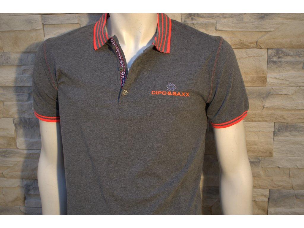 Pánské polo tričko CIPO & BAXX CT 189 Grey