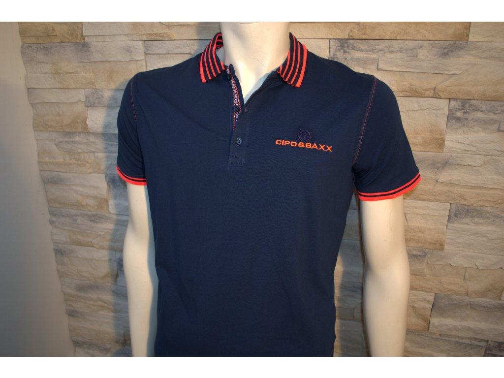 Pánské polo tričko CIPO & BAXX CT 189 Blue