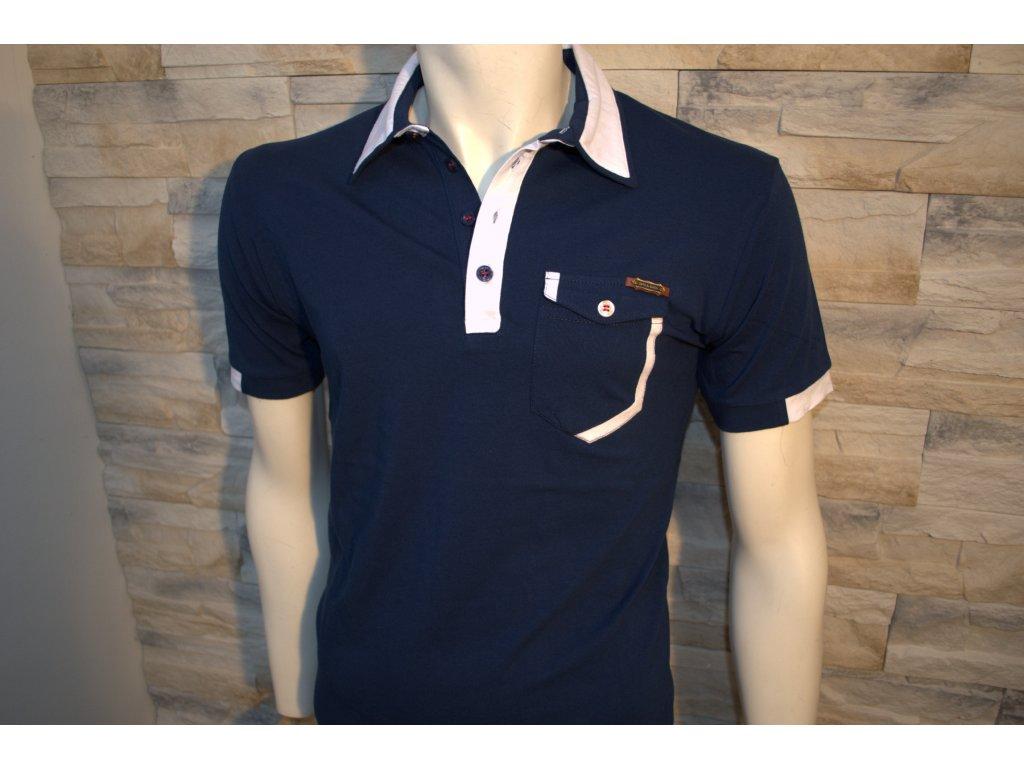 Pánské polo tričko CIPO & BAXX CT 329 Blue