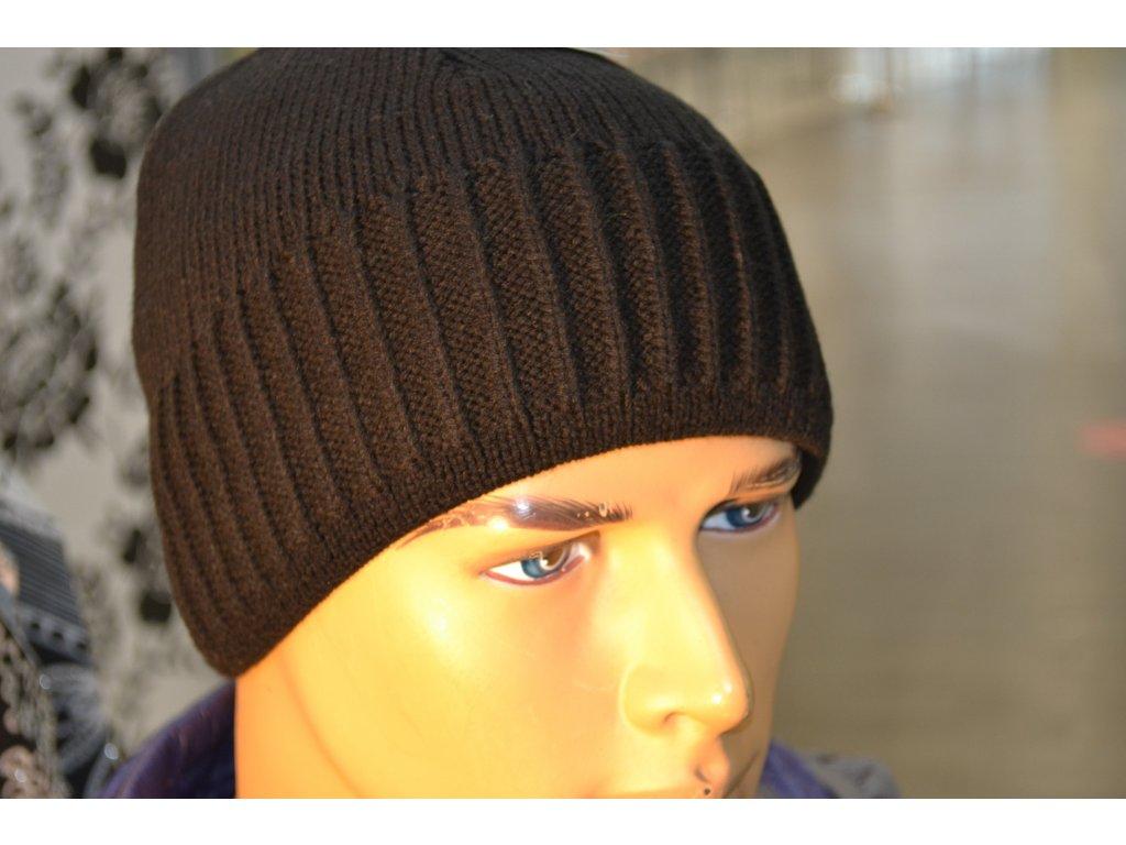 Pánská čepice Agat černá