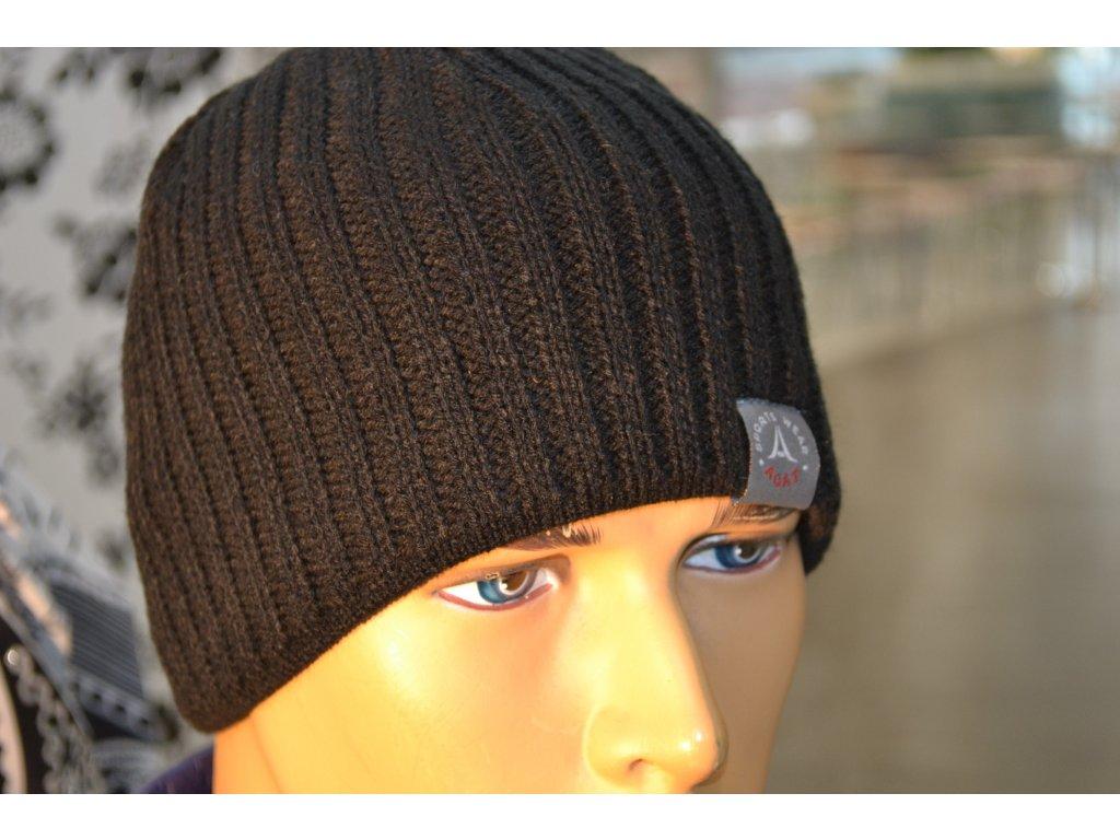 Pánská čepice Agat 3 černá