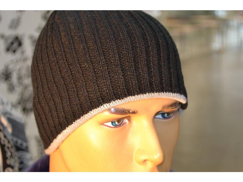 Pánská čepice Agat 4 černá