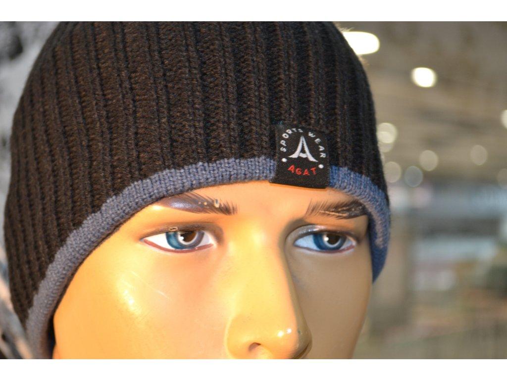Pánská čepice Agat 6 černá