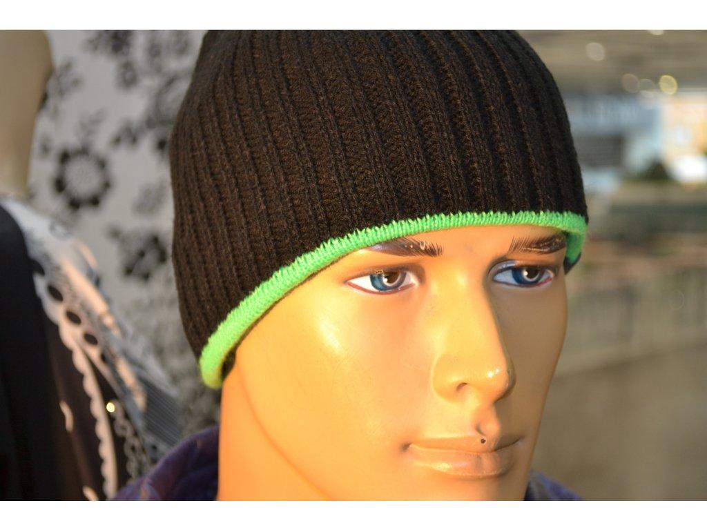 Pánská čepice Agat 7 černá