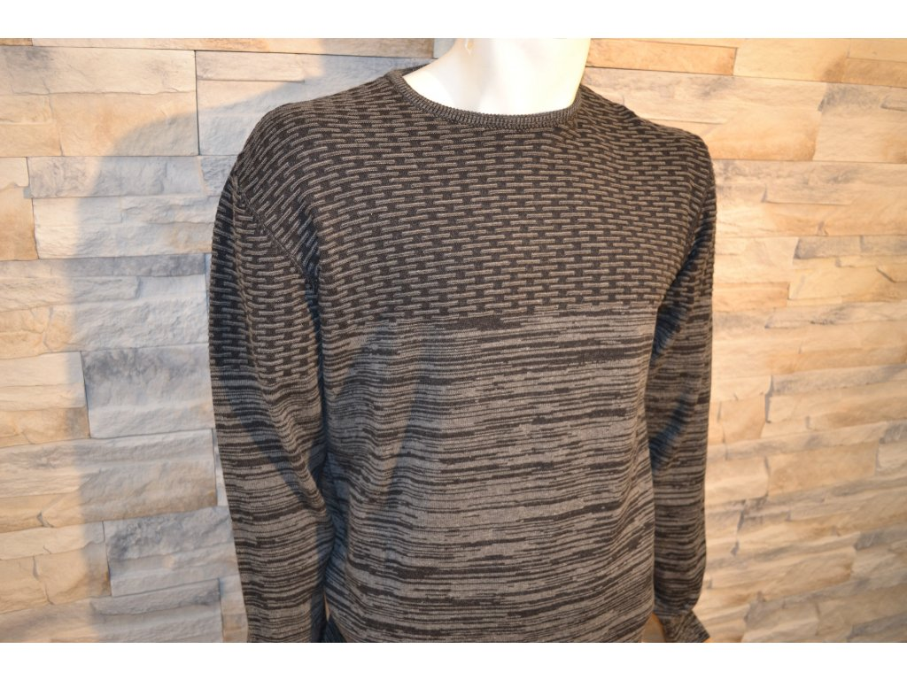 Pánský svetr SEMCO 18018 Black/Grey