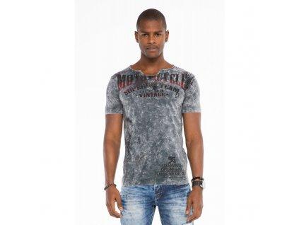 Pánské tričko CIPO & BAXX CT 504 Anthracite