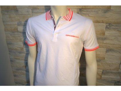 Pánské polo tričko CIPO & BAXX CT 189 White