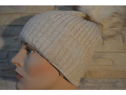 Dámská čepice s bambulí Sweet cap 1