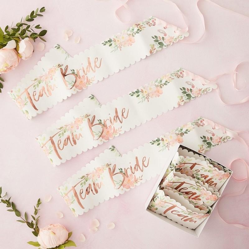 Floral team bride