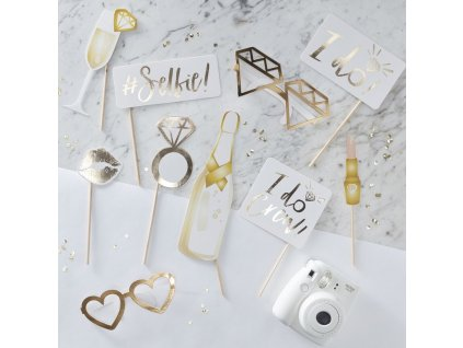 id 415 gold photo booth props min