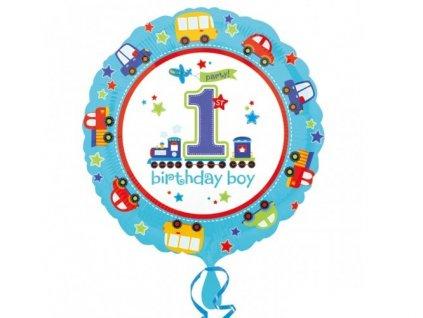 """Fóliový balón """"1"""" Happy Birthday"""