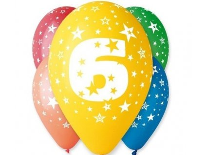 "Pastelové balóny ""6"" Happy Birthday 5ks v balení"