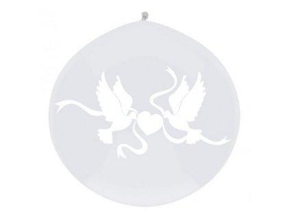 Jumbo balón latexový 1m White doves