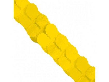 Girlanda papierová žltá 365cm