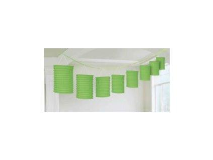 Lampiónová girlanda zelená 365cm