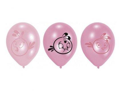Latexové balóny Angry Birds ružové 6ks v balení