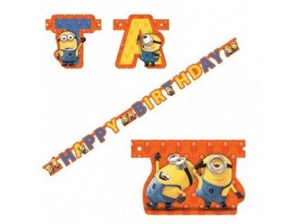Banner Happy Birthday Mimoni 180cm