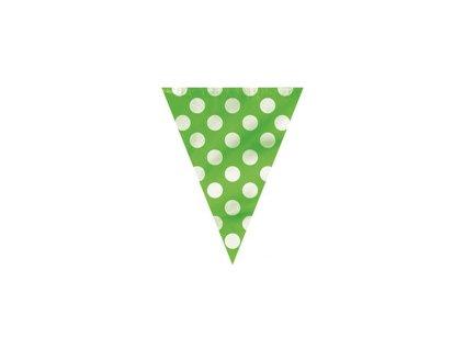 Vlajková girlanda DOTS zelená 3,65m