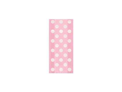 Celofánové sáčky DOTS ružové 20ks v balení