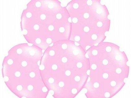 eng pl Balloons 14 Pastel Pink Dots 5 pcs 13137 1