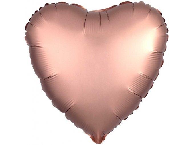 Rose Copper Satin Luxe Heart FOIL2948 v1 lg