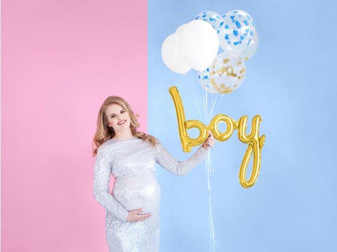 eng pl Foil Balloon Boy gold 1 pc 40769 1