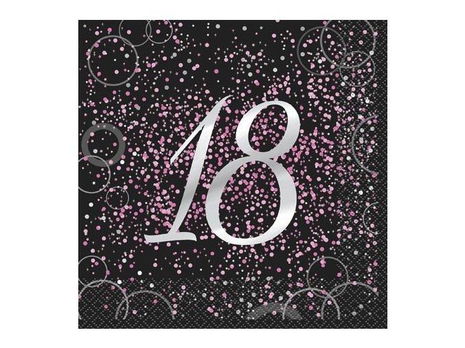 eng pl Blitz Pink Birthday lunch napkins 18 33 cm 16 pcs 28757 1