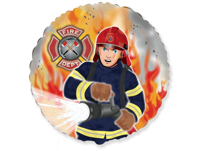 401582 18 inches Fireman Firefighter Foil balloons