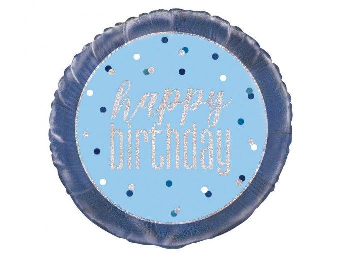 eng pl Happy Birthday Birthday Balloon 46 cm 1 pc 43555 2