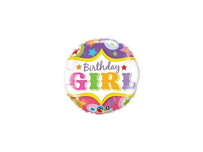 18 inch es birthday girl circus stars szulinapi folia lufi q25228