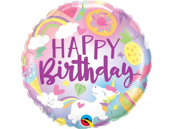 balon foliowy 18 ql happy birthday slodkie jed