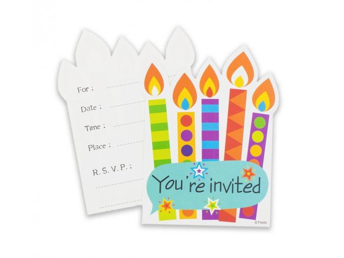 zaproszenie na impreze koperty kolorowy bal