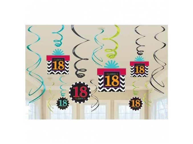 eng pl 18th Celebrate Swirls Decorations Pack 12 pcs 17558 2 (1)