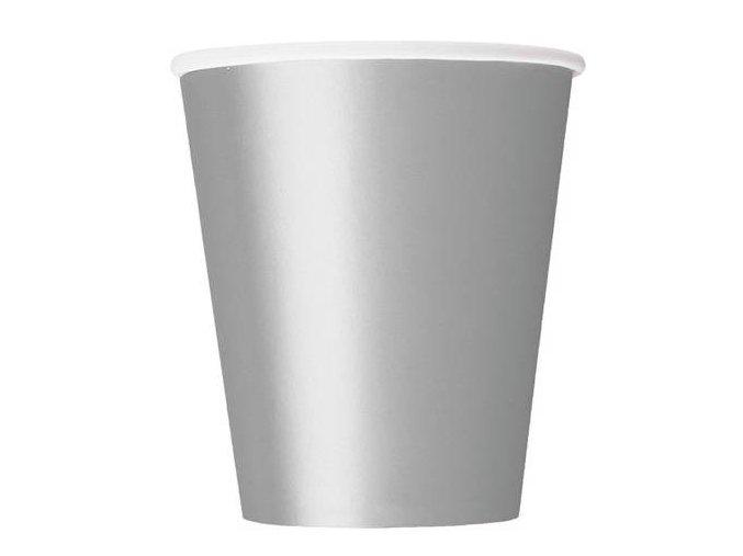 eng pl Silver Paper Cups 266 ml 8 pcs 26235 2