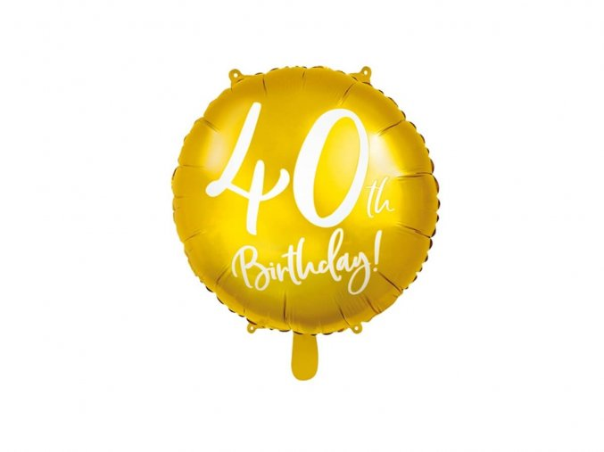 eng pl 40th Birthday Balloon 45 cm 1 pc 37264 1