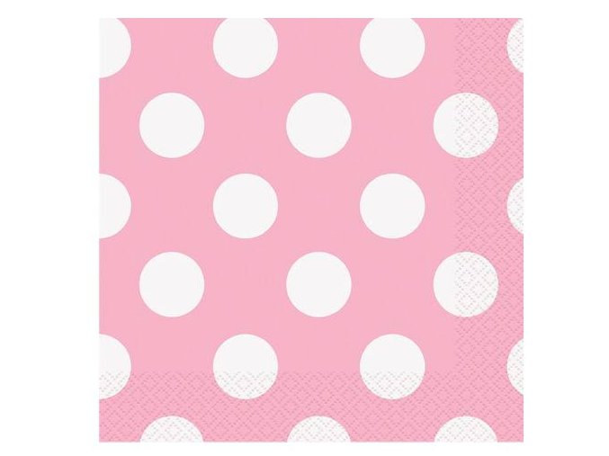 eng pl Pink Napkins with Dots 33 cm 16 pcs 25284 1