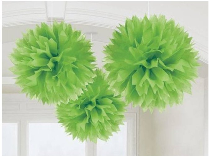 eng pl Green Fluffy Decoration 40 6cm 3 pcs 8084 2