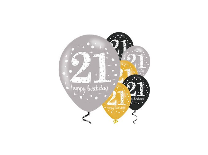 21 gold sparkling celebration balloon scelball21