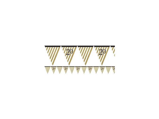 black gold glitter bunting BGLDBUNT20 v2