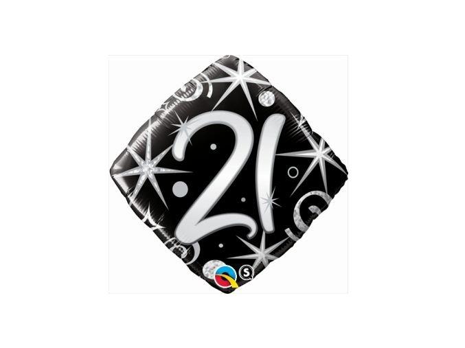 balon foliowy 18 ql sqr happy birthday czarno b